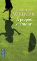 Couverture À propos d'amour Editions Pocket 2014