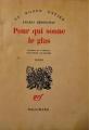 Couverture Pour qui sonne le glas Editions Gallimard  (Du monde entier) 1962