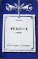 Couverture Iphigénie Editions Larousse (Classiques) 1933