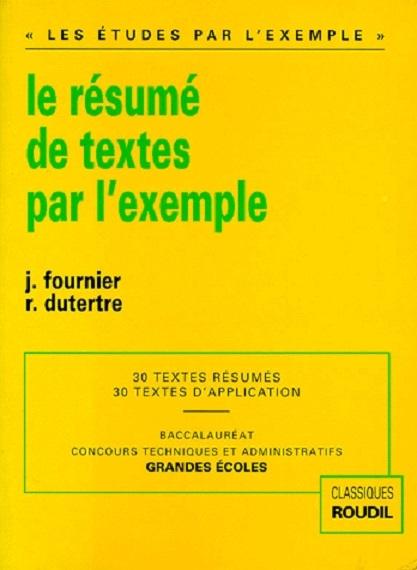 le résumé de texte par l exemple livraddict