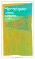 Couverture Lettres persanes Editions Flammarion (GF) 1995