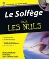 Couverture Le solfège pour les nuls Editions First (Pour les nuls) 2007