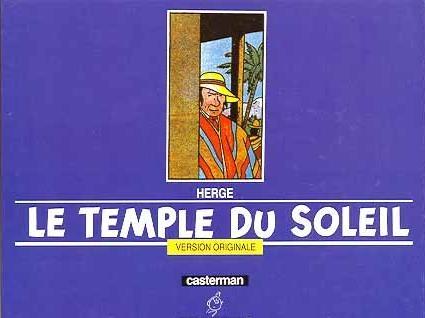 Couverture Les aventures de Tintin, tome 14 : Le Temple du Soleil
