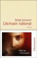 Couverture L'Ecrivain national Editions Flammarion 2014