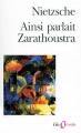 Couverture Ainsi parlait Zarathoustra Editions Folio  (Essais) 1995
