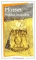 Couverture Poésies nouvelles Editions Flammarion (GF) 2000