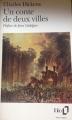 Couverture Un conte de deux villes Editions Folio  1993