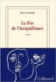 Couverture La fête de l'insignifiance Editions Gallimard  (Blanche) 2014