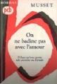 Couverture On ne badine pas avec l'amour Editions Bordas (Petits Classiques) 1963