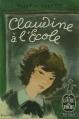 Couverture Claudine à l'école Editions Le Livre de Poche 1958