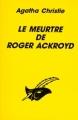 Couverture Le meurtre de Roger Ackroyd Editions Librairie des  Champs-Elysées  1987