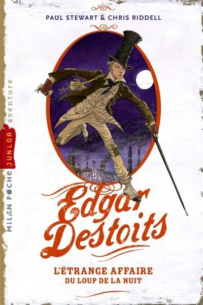 Couverture Edgar Destoits, tome 1 : L'étrange affaire du loup de la nuit