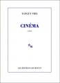 Couverture Cinéma Editions de Minuit 1999