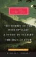 Couverture The Hound of the Baskervilles / A Study in Scarlet / The Sign of Four Editions Everyman's library 2014