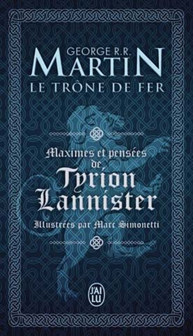 Couverture Maximes et pensées de Tyrion Lannister