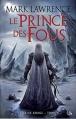 Couverture La reine rouge, tome 1 : Le prince des fous Editions Bragelonne 2014