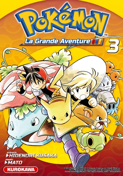 Couverture Pokémon : La grande aventure, tome 3