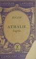Couverture Athalie Editions Larousse (Classiques) 1933