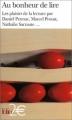 Couverture Au bonheur de lire Editions Folio  (2 €) 2004