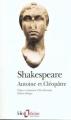 Couverture Antoine et Cléopâtre Editions Folio  (Théâtre) 1999