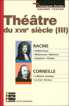 Couverture Théâtre du XVIIe siècle, tome 3