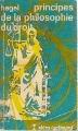 Couverture Principes de la philosophie du droit Editions Gallimard  (Idées) 1963