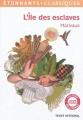 Couverture L'île des esclaves Editions Flammarion (GF - Etonnants classiques) 2012
