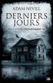 Couverture Derniers jours Editions Bragelonne 2014