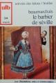 Couverture Le Barbier de Séville Editions Bordas (Univers des lettres) 1972