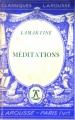 Couverture Méditations poétiques, Nouvelles méditations poétiques Editions Larousse (Classiques) 1935