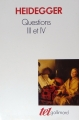 Couverture Question III et IV Editions Gallimard  (Tel) 2005