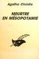 Couverture Meurtre en Mésopotamie Editions Librairie des  Champs-Elysées  (Le masque) 1997