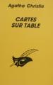 Couverture Cartes sur table Editions Librairie des  Champs-Elysées  (Le masque) 1995