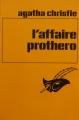 Couverture L'Affaire Protheroe Editions Librairie des  Champs-Elysées  (Le masque) 1982