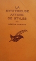 Couverture La Mystérieuse Affaire de Styles Editions Librairie des  Champs-Elysées  (Le masque) 1962