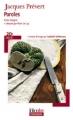 Couverture Paroles Editions Folio  (Plus classiques) 2013