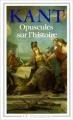 Couverture Opuscules sur l'histoire Editions Flammarion (GF) 1990