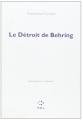 Couverture Le Détroit de Behring Editions P.O.L (Essais) 1986