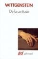 Couverture De la certitude Editions Gallimard  (Tel) 1987