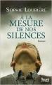 Couverture A la mesure de nos silences Editions Fleuve 2014