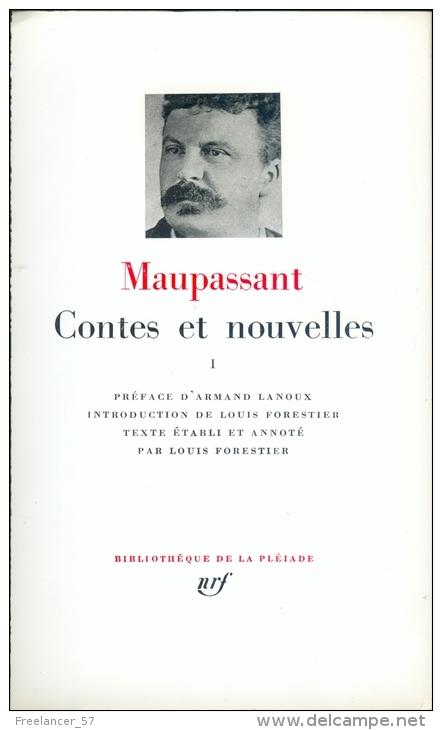 Couverture Contes et nouvelles, tome 1 (Maupassant Pléiade)