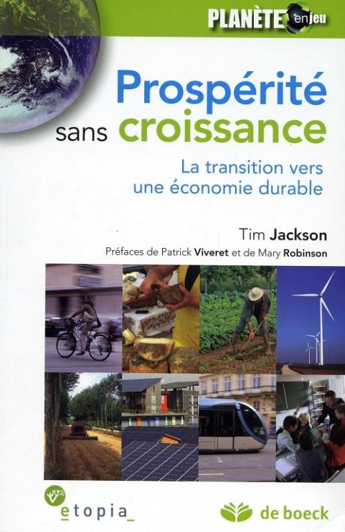 Couverture Prospérité sans croissance : La transition vers une économie durable