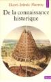 Couverture De la connaissance historique Editions Points (Histoire) 1975