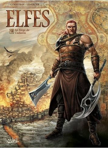 Couverture Elfes, tome 09 : Le siège de Cadanla