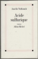 Couverture Acide sulfurique Editions Albin Michel 2005