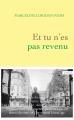 Couverture Et tu n'es pas revenu Editions Grasset 2015