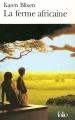 Couverture La ferme africaine Editions Folio  2004