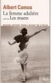 Couverture La femme adultère suivi de Les muets Editions Folio  1957