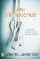 Couverture Jeu de patience, tome 2 : Jeu d'innocence Editions J'ai lu 2015