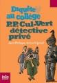 Couverture P.P. Cul-Vert détective privé Editions Folio  (Junior) 2007